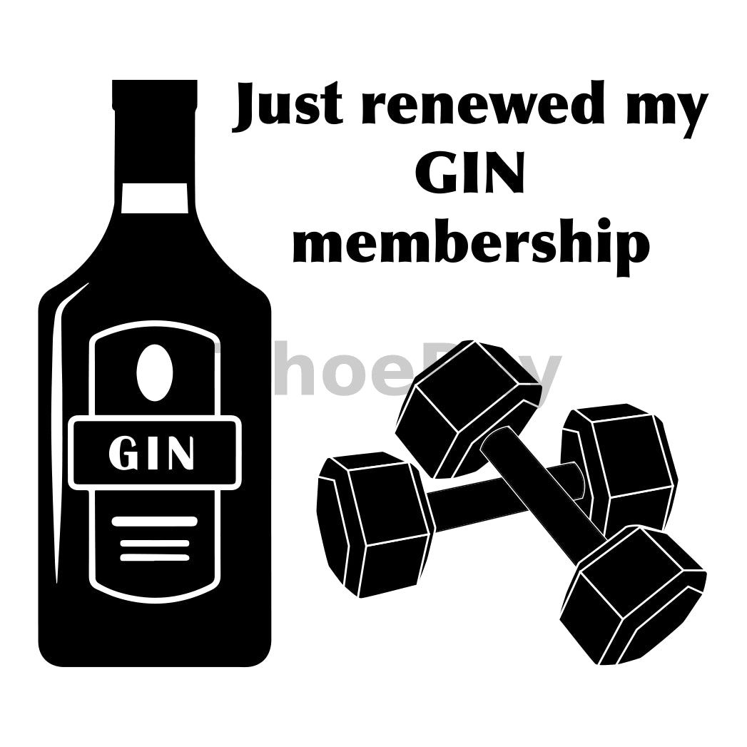 Just Renewed My Gin Membership Can Cooler Graphic Design Files | SVG PNG