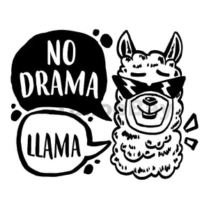 No Drama Llama Can Cooler Graphic Design Files | SVG PNG