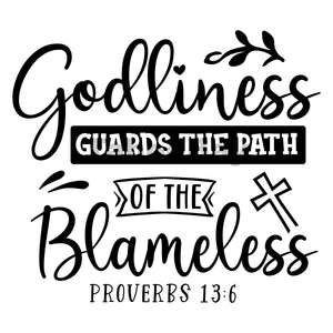 Godliness Guards The Path Of The Blameless Can Cooler Graphic Design Files | SVG PNG