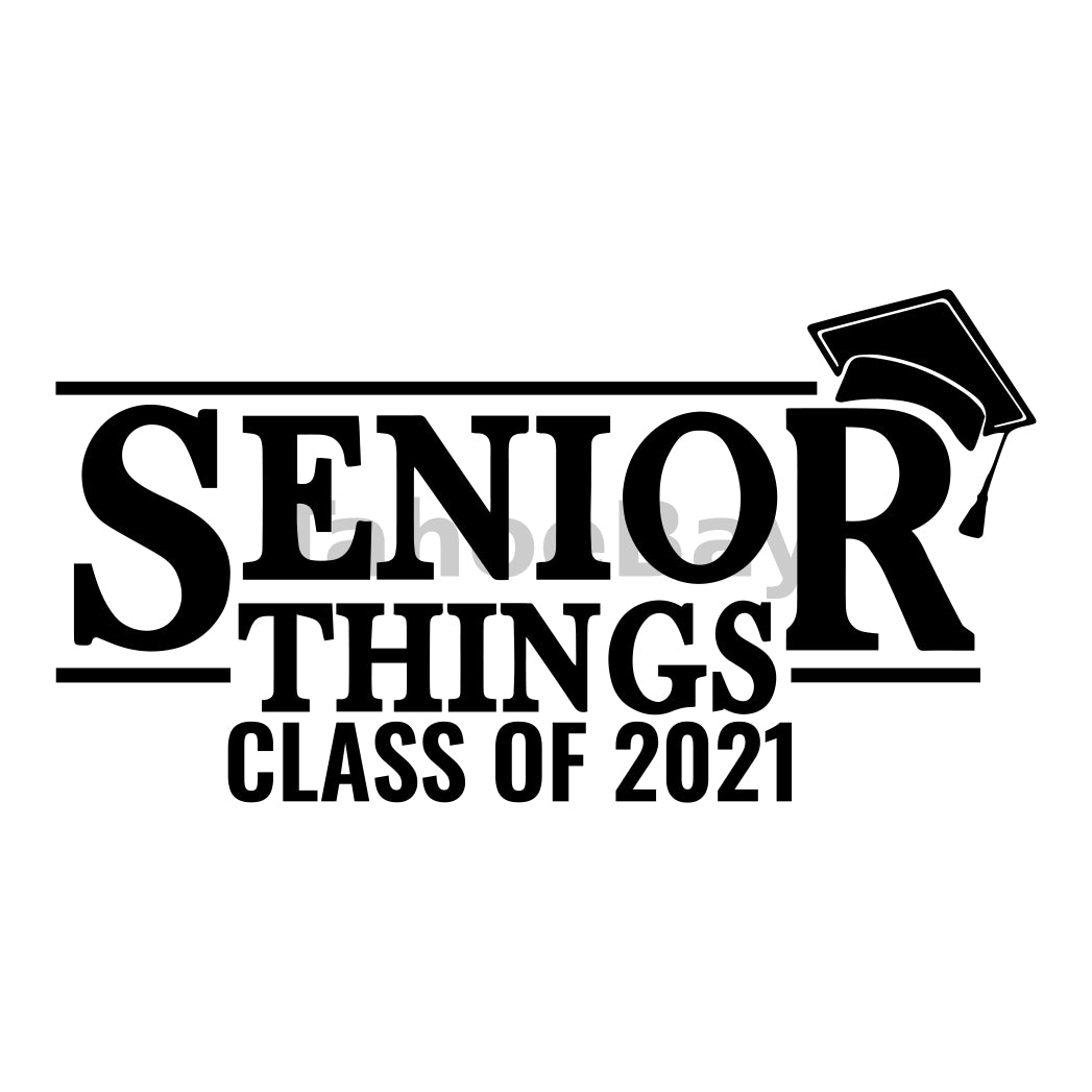 Senior Things 2021 Can Cooler Graphic Design Files | SVG PNG