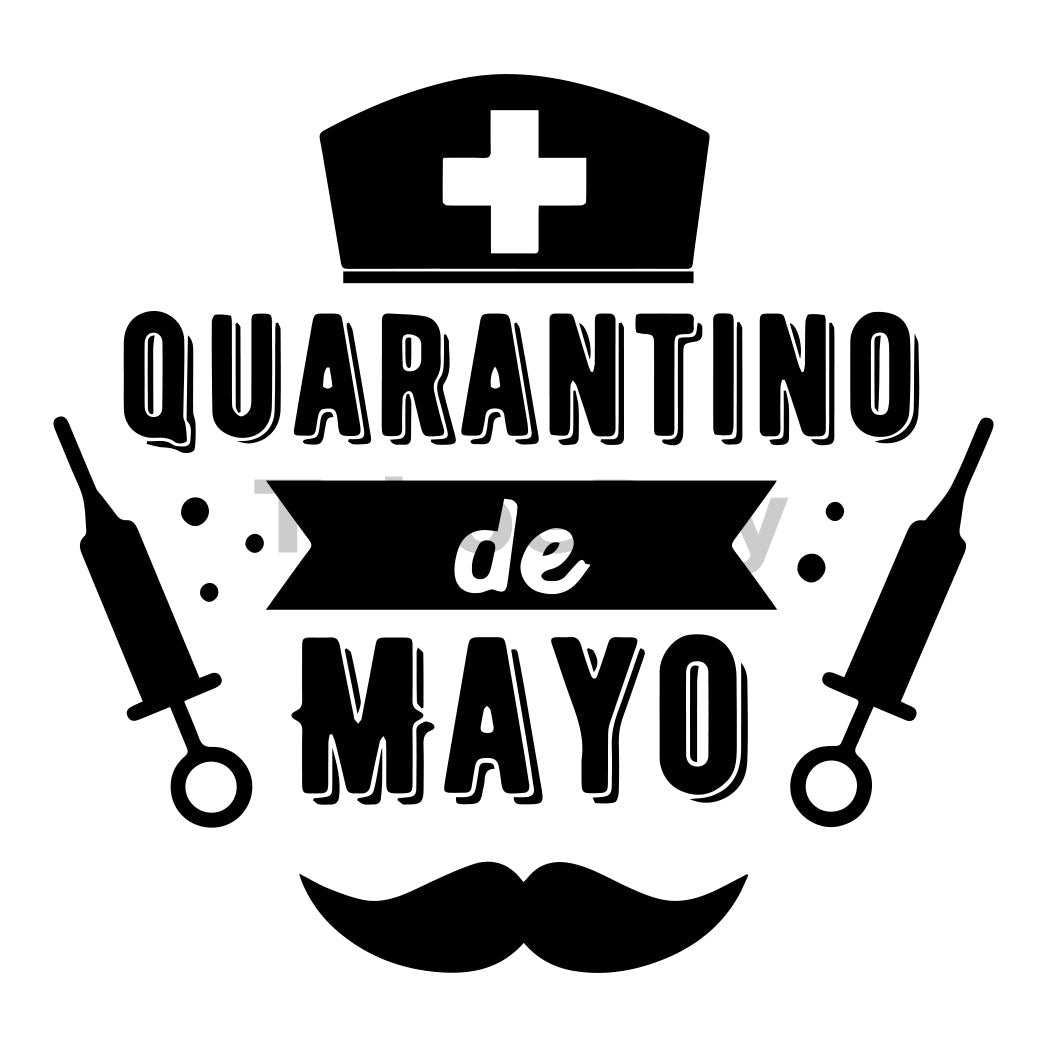 Quarantino De Mayo Can Cooler Graphic Design Files | SVG PNG
