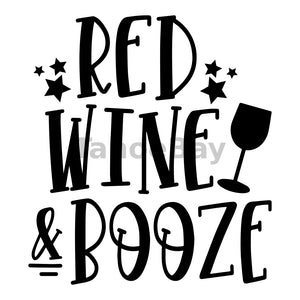 Red Wine And Booze Can Cooler Graphic Design Files | SVG PNG