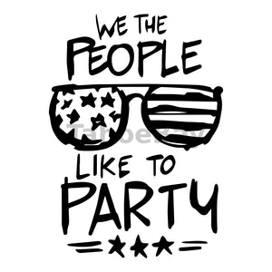 We The People Like To Party Can Cooler Graphic Design Files | SVG PNG