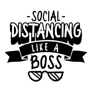 Social Distancing Like A Boss Can Cooler Graphic Design Files | SVG PNG