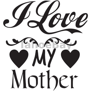 I Love My Mother Can Cooler Graphic Design Files | SVG PNG