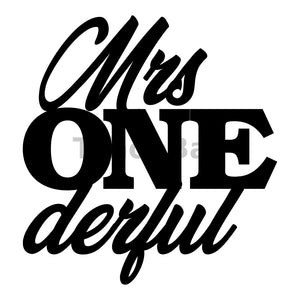 Mrs ONEderful Can Cooler Graphic Design Files | SVG PNG
