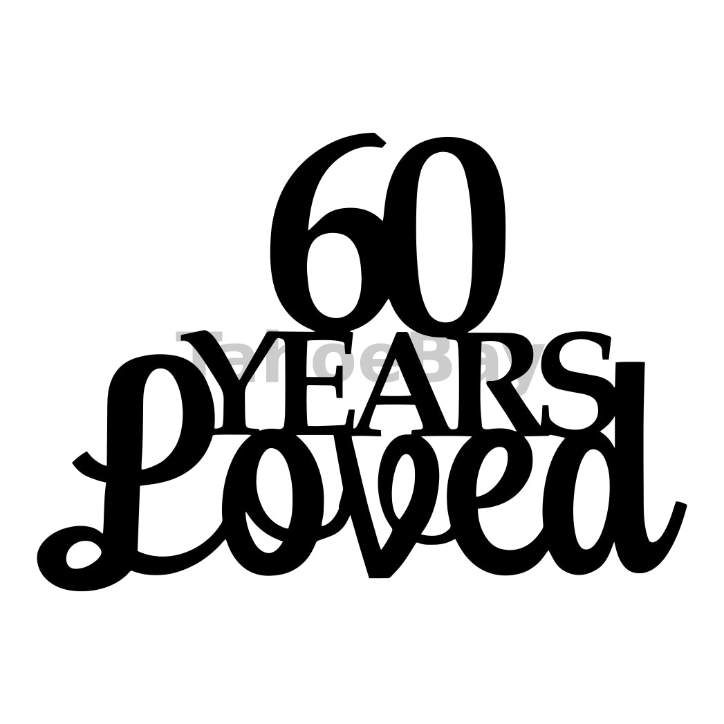 60 Years Loved Can Cooler Graphic Design Files | SVG PNG