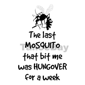 Hungover Mosquito Can Cooler Graphic Design Files | SVG PNG