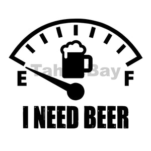 I Need A Beer Can Cooler Graphic Design Files | SVG PNG
