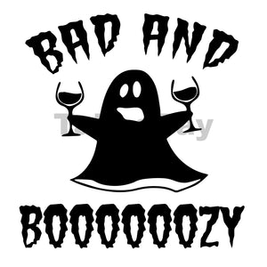 Bad And Boooooozy Can Cooler Graphic Design Files | SVG PNG