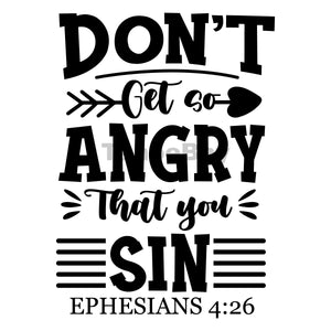 Don't Get So Angry That You Sin Can Cooler Graphic Design Files | SVG PNG