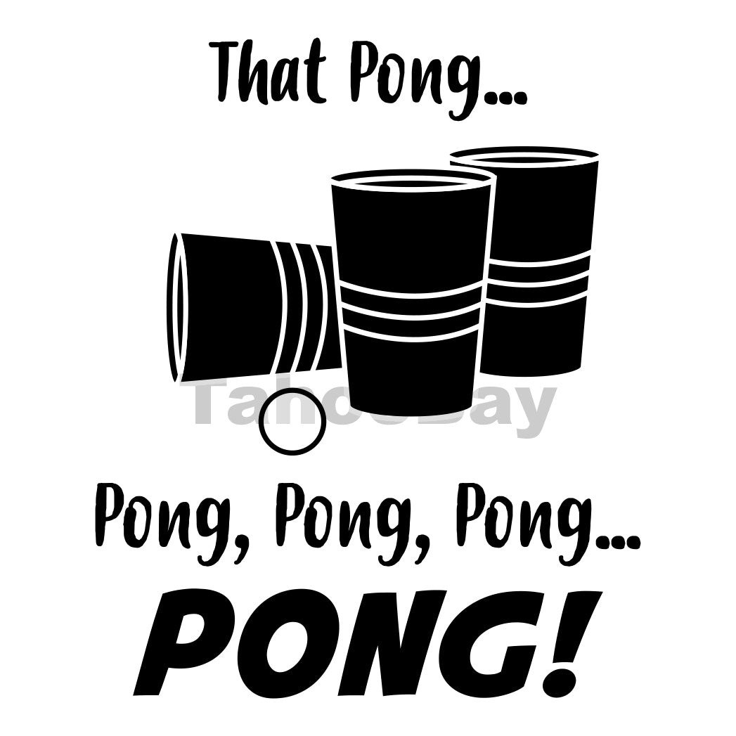 Pong Song Can Cooler Graphic Design Files | SVG PNG