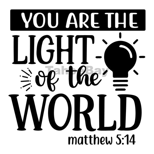 You Are The Light Of The World Can Cooler Graphic Design Files | SVG PNG