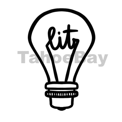 Lit Light Bulb Can Cooler Graphic Design Files | SVG PSD PNG