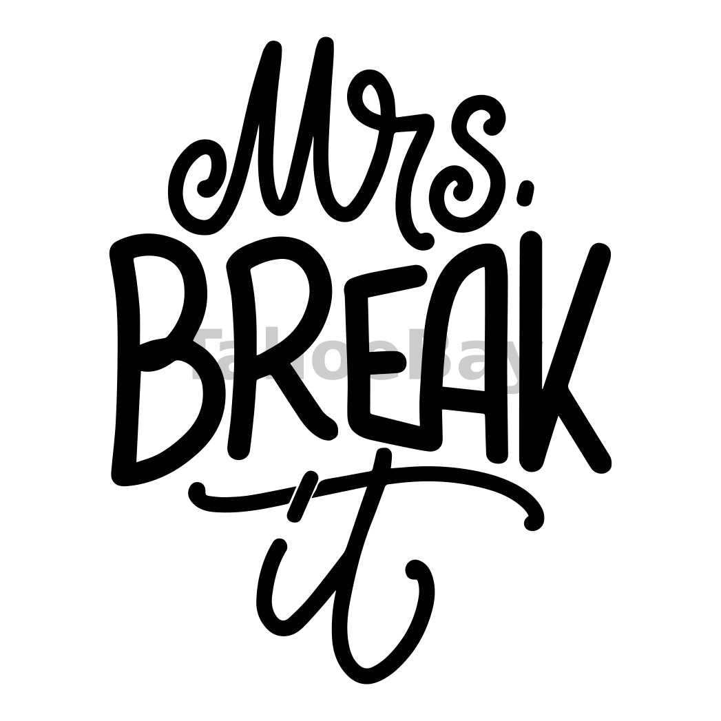 Mrs. Break It Can Cooler Graphic Design Files | SVG PNG
