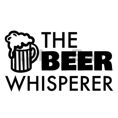 The Beer Whisperer Can Cooler Graphic Design Files | SVG PSD PNG