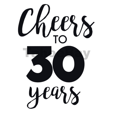 Cheers To 30 Years Can Cooler Graphic Design Files | SVG PSD PNG