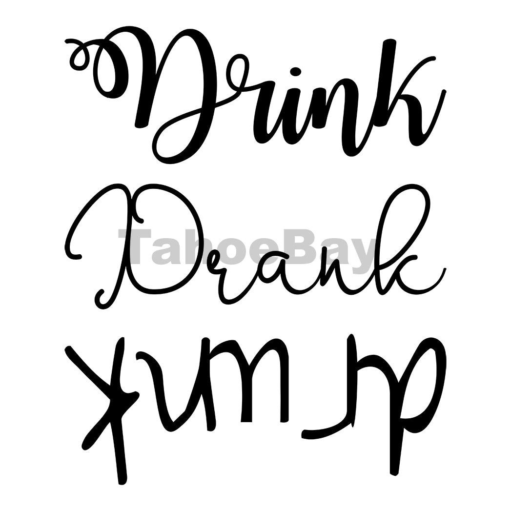 Drink Drank Drunk Cold Can Cooler Graphic Design Files | SVG PNG