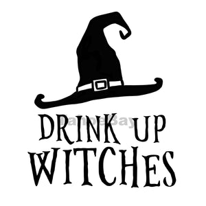 Drink Up Witches Can Cooler Graphic Design Files | SVG PNG