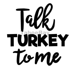 Talk Turkey Tome Can Cooler Graphic Design Files | SVG PNG