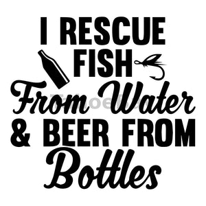 I Rescue Fish From Water And Beer From Bottles Can Cooler Graphic Design Files | SVG PNG