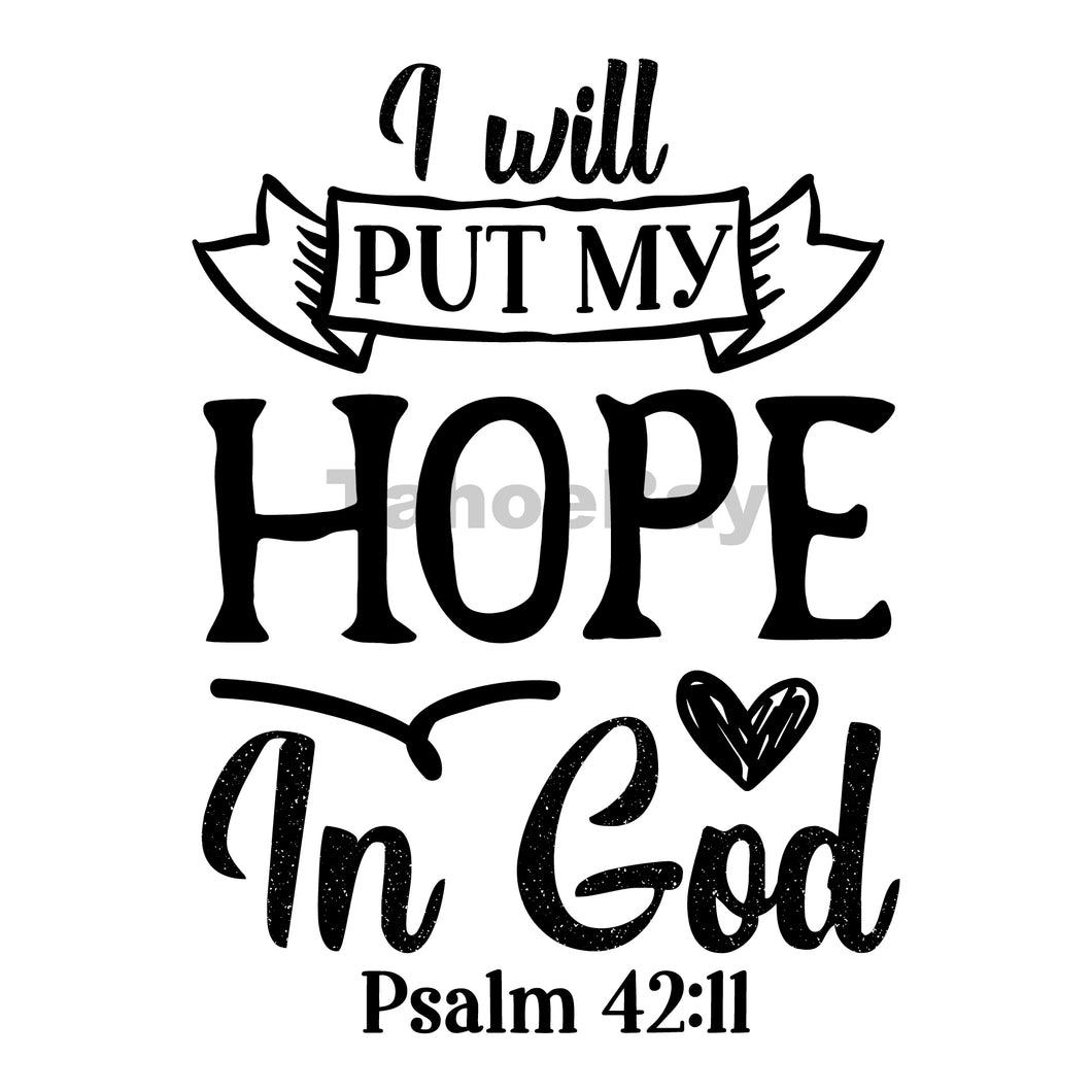 I Will Put My Hope In God Can Cooler Graphic Design Files | SVG PNG
