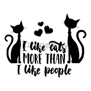 I Like Cats More Than I Like People Can Cooler Graphic Design Files | SVG PNG