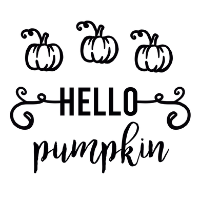 Hello Pumpkin Can Cooler Graphic Design Files | SVG PNG
