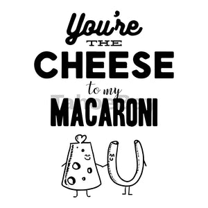 You're The Cheese To My Macaroni Can Cooler Graphic Design Files | SVG PNG