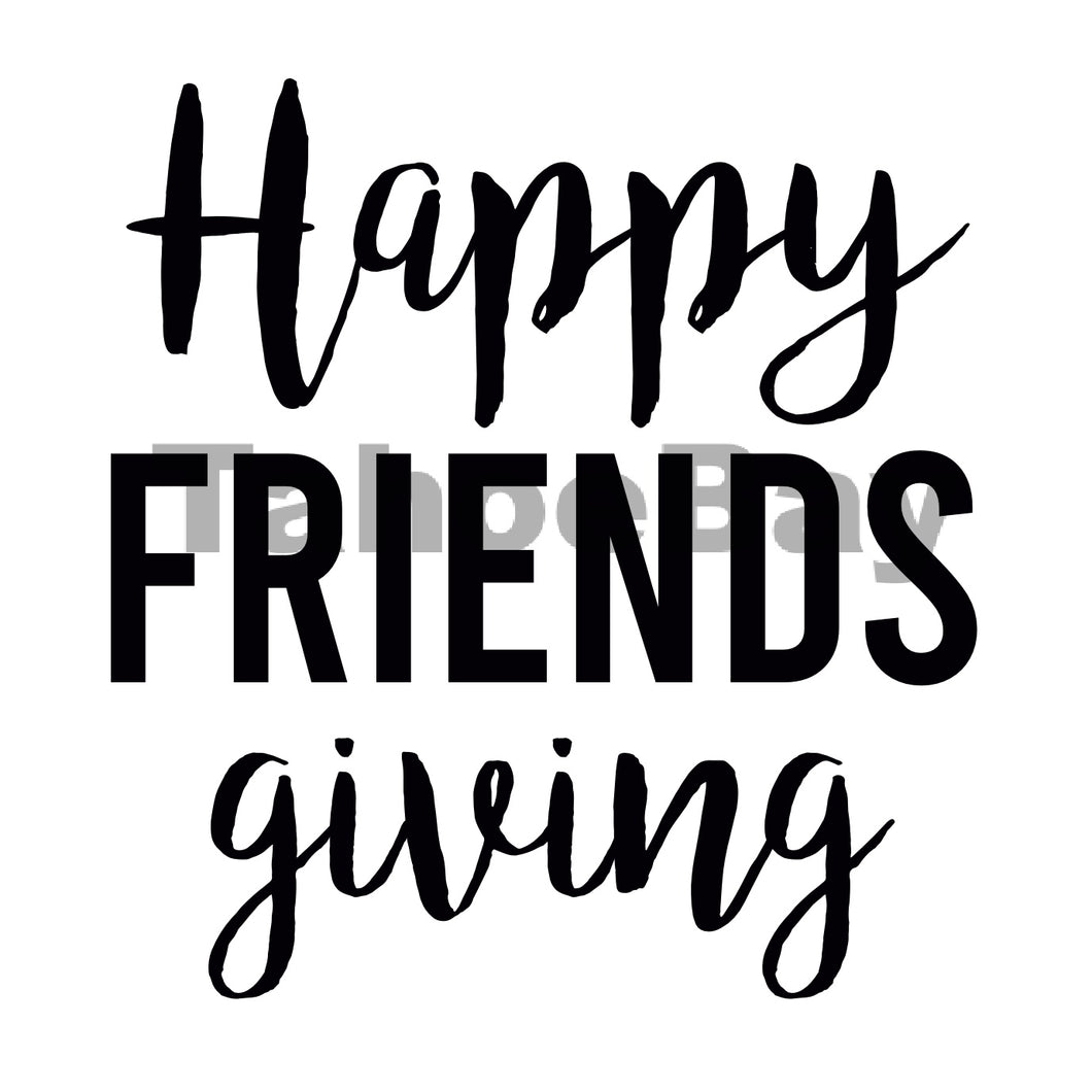 Happy Friends Giving Can Cooler Graphic Design Files | SVG PNG