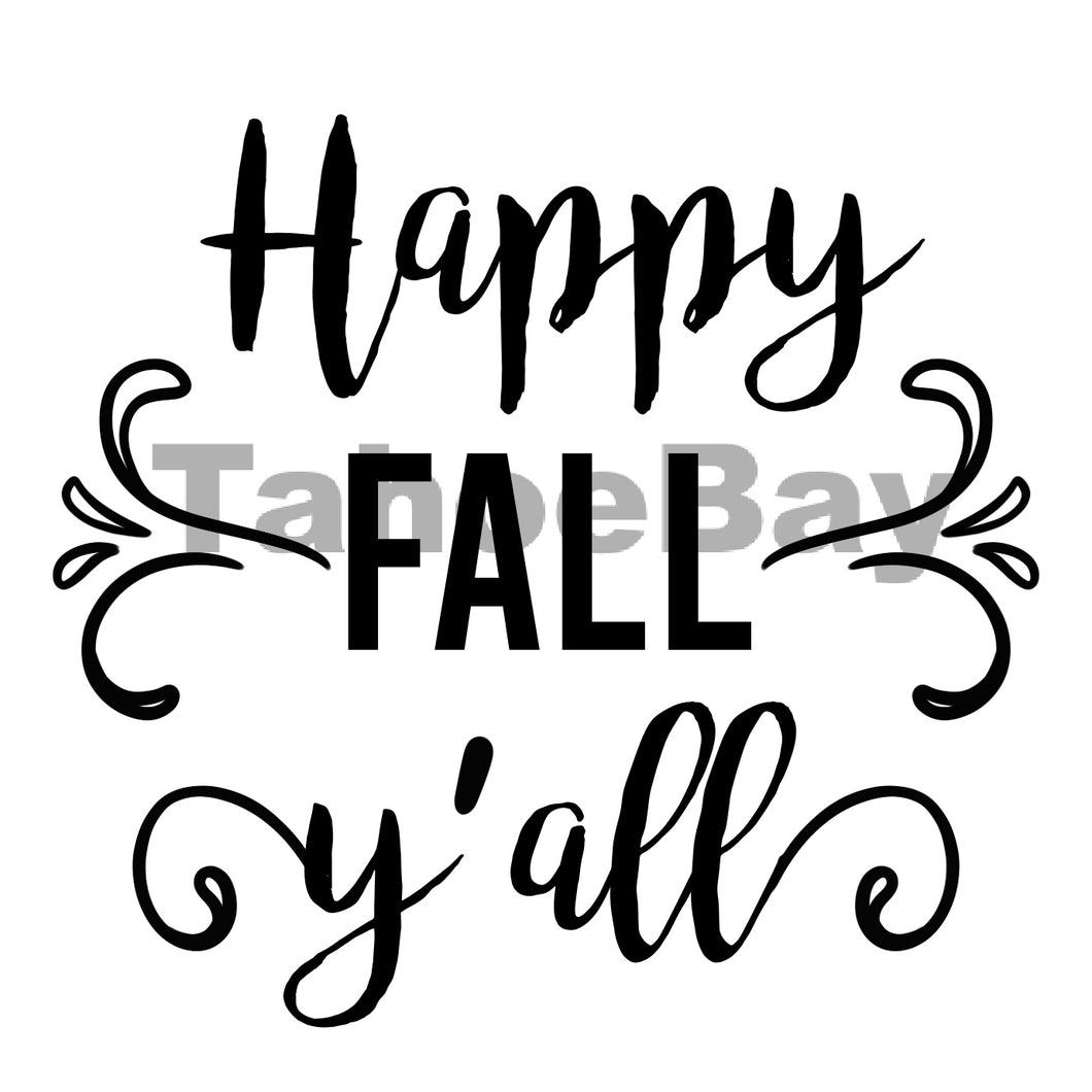 Happy Fall Y'alls Can Cooler Graphic Design Files | SVG PNG