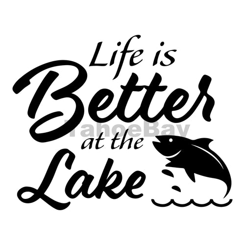 Life Is Better At The Lake Can Cooler Graphic Design Files | SVG PNG