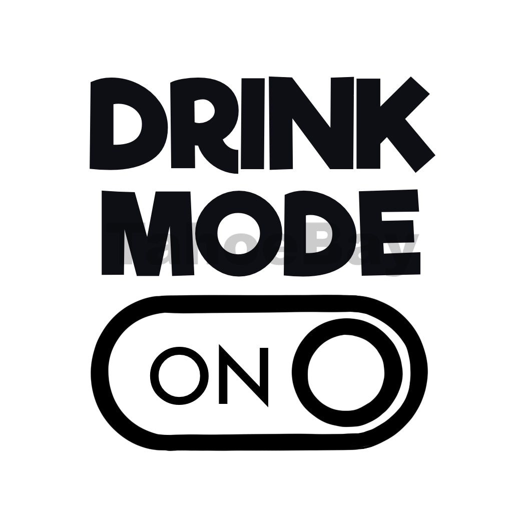 Drink Mode On Can Cooler Graphic Design Files | SVG PSD PNG