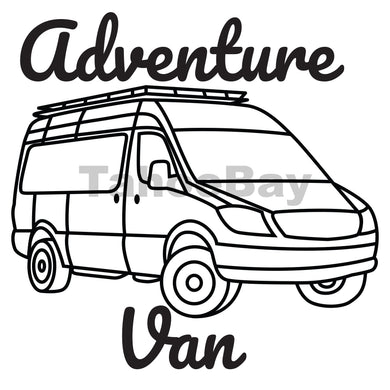 Adventure Van Can Cooler Graphic Design Files | SVG PNG