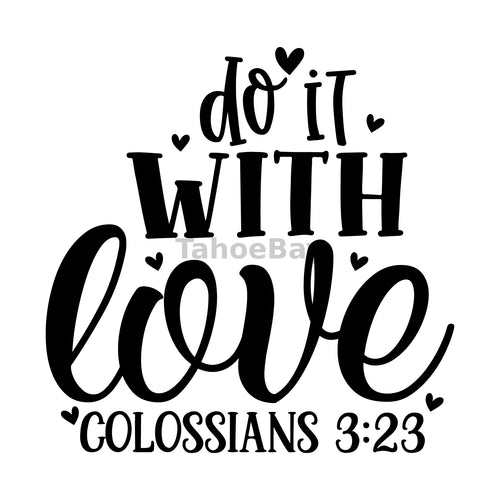 Do It With Love Can Cooler Graphic Design Files | SVG PNG