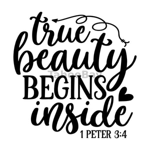 True Beauty Begins Inside Can Cooler Graphic Design Files | SVG PNG