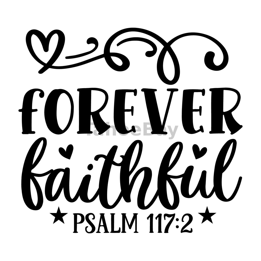 Forever Faithful Can Cooler Graphic Design Files | SVG PNG