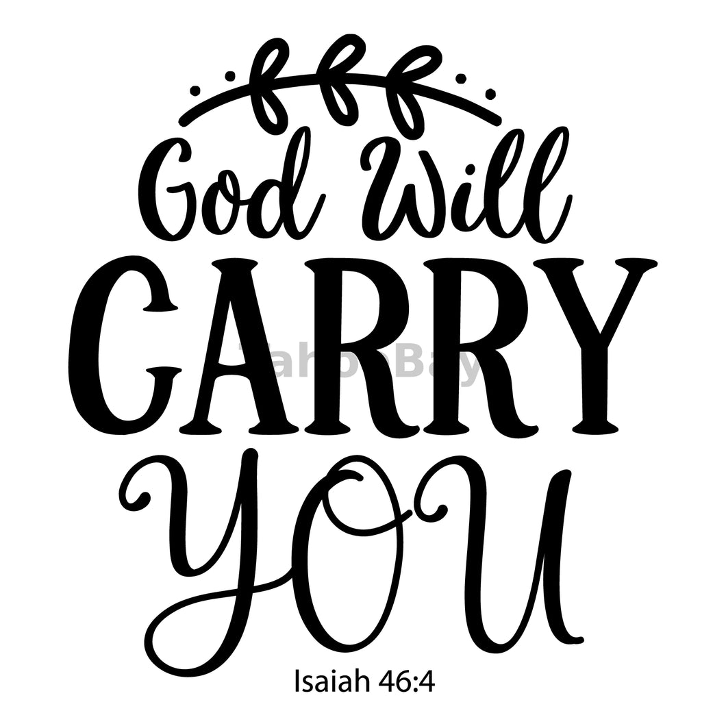 God Will Carry You Can Cooler Graphic Design Files | SVG PNG