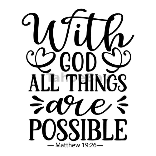 With God All Things Are Possible Can Cooler Graphic Design Files | SVG PNG