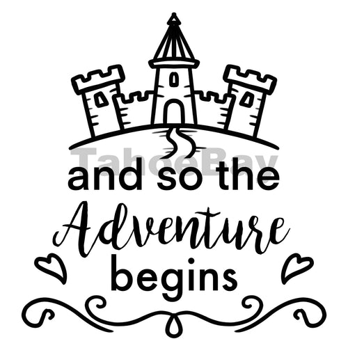And So The Adventure Begins Can Cooler Graphic Design Files | SVG PSD PNG