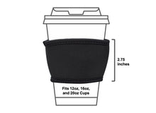 Load image into Gallery viewer, Coffee Cup Sleeves - Fits 12, 16, and 20oz Paper Cups