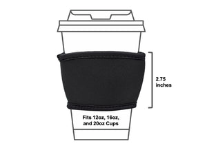 Coffee Cup Sleeves - Fits 12, 16, and 20oz Paper Cups