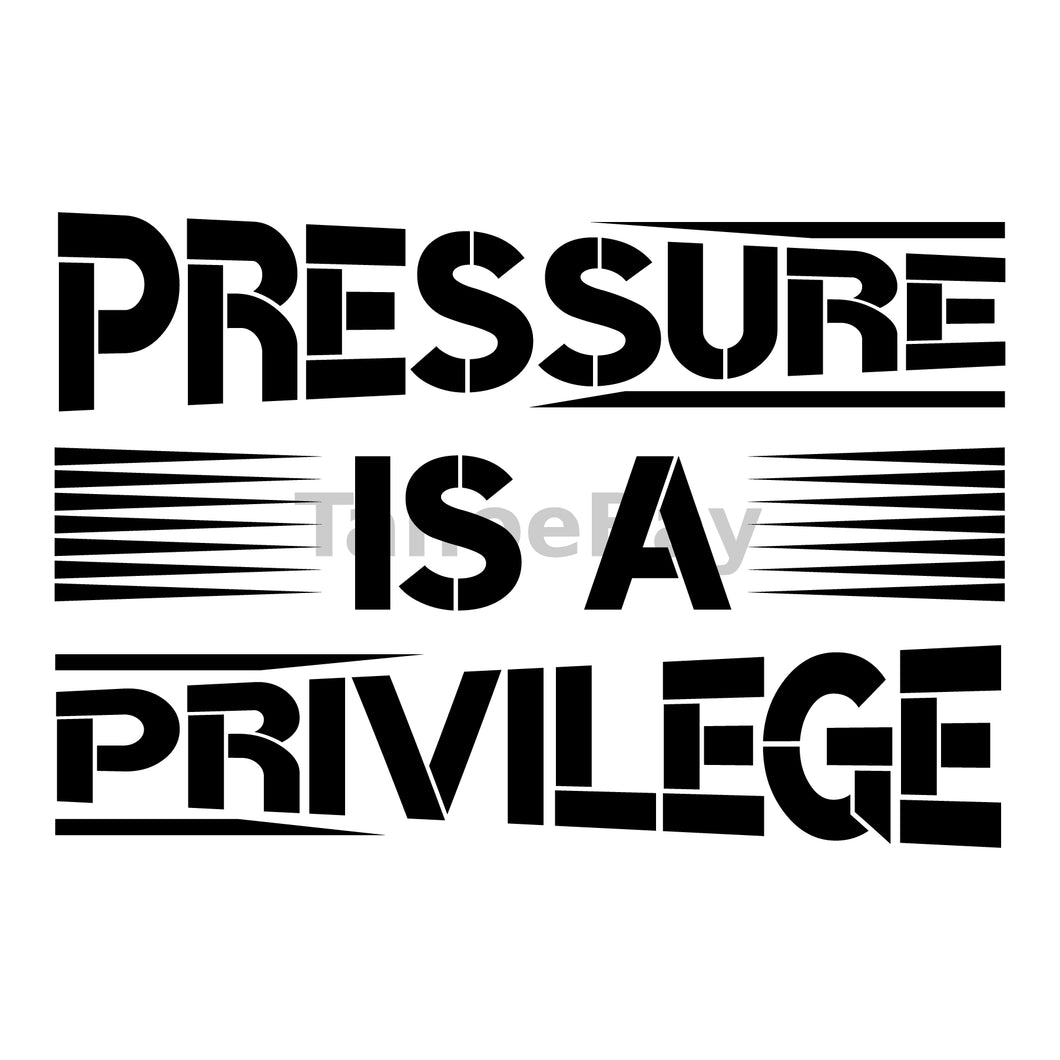 Pressure Is A Privilege Can Cooler Graphic Design Files | SVG PNG