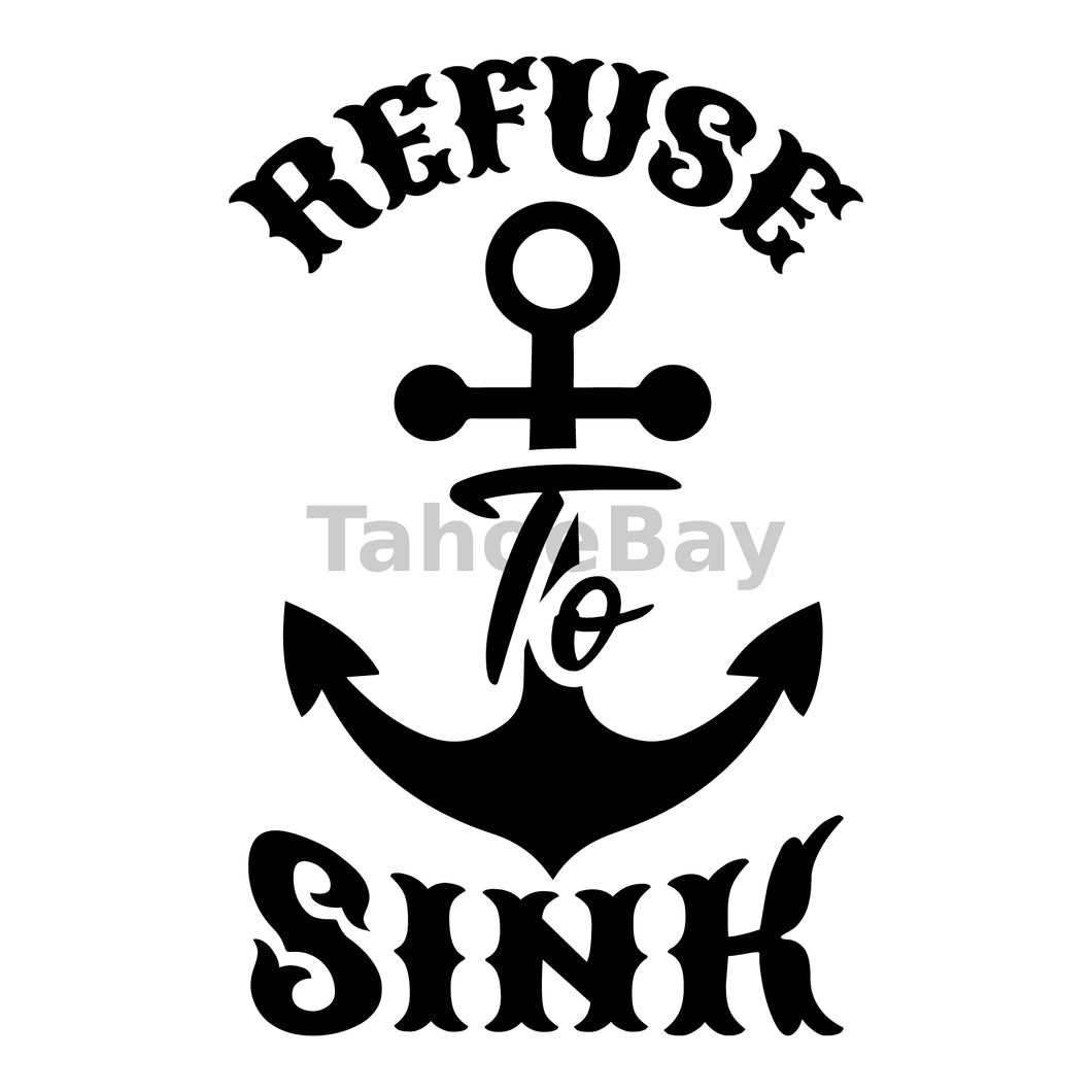 Refuse To Sink Can Cooler Graphic Design Files | SVG PNG