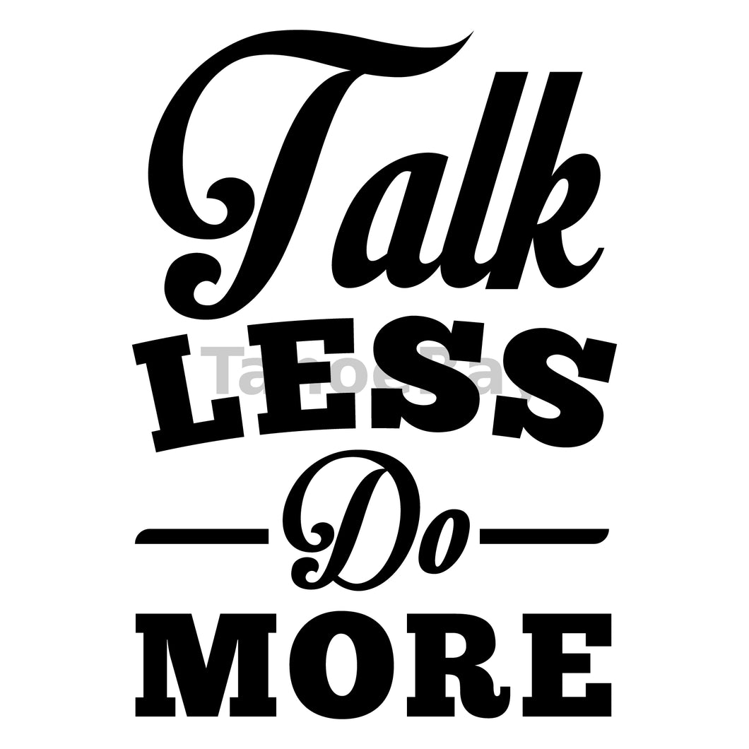Talk Less Do More Can Cooler Graphic Design Files | SVG PNG