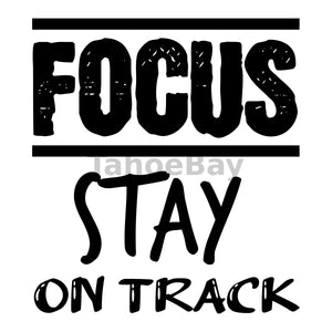 Focus Stay On Track Can Cooler Graphic Design Files | SVG PNG