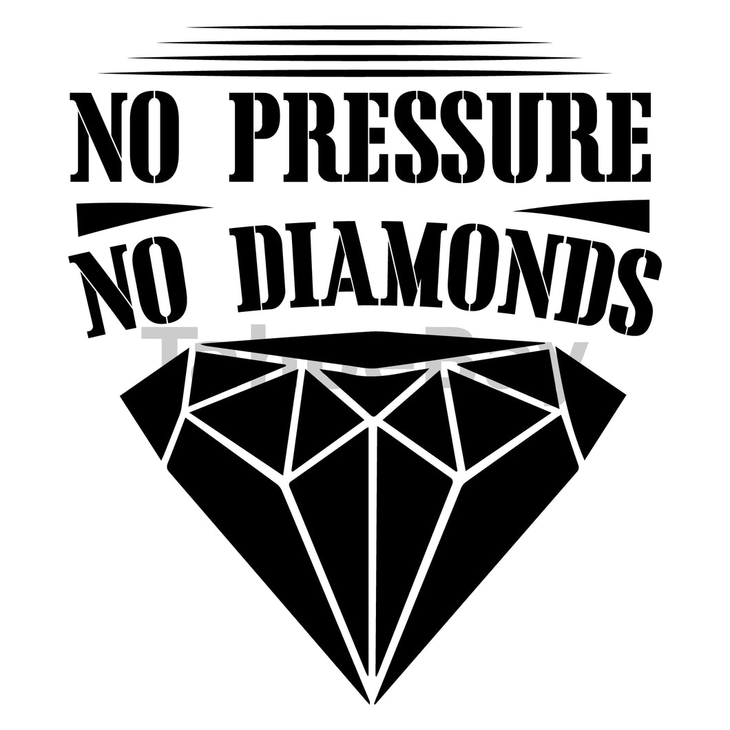 No Pressure No Diamonds Can Cooler Graphic Design Files | SVG PNG