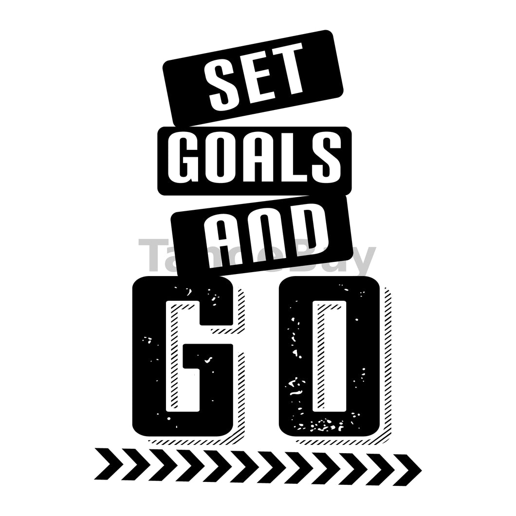 Set Goals And Go Can Cooler Graphic Design Files | SVG PNG