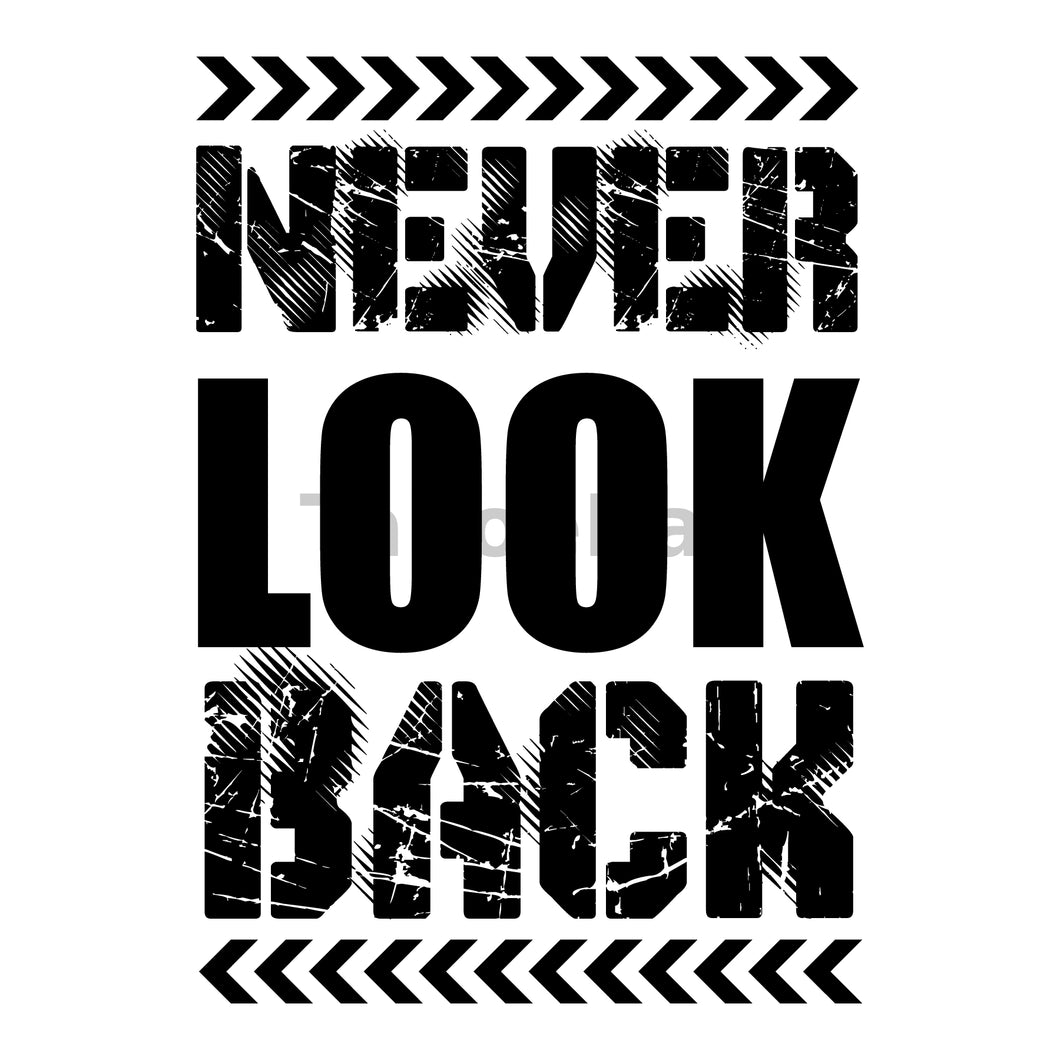 Never Look Back Can Cooler Graphic Design Files | SVG PNG