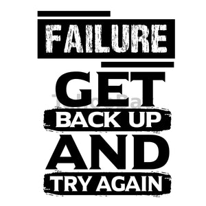 Failure Get Back Up And Try Again Can Cooler Graphic Design Files | SVG PNG